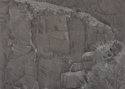 Along the Canyon Walls graphite