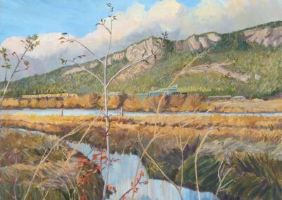 Mount Tzouhalem with Fall Foliage 34x29.875